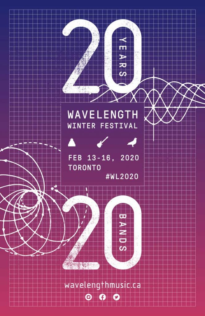 Wavelength winterfest 2020 poster