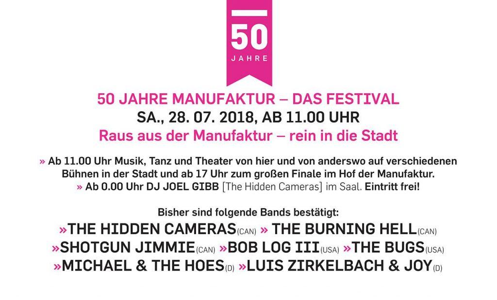 50 Jahre Manufaktur - Das Festival